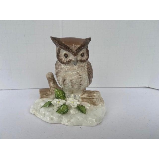 Ceramic Mid Century Bone China Owl Figurine For Sale - Image 7 of 9