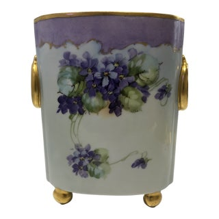 Early 20th Century Antique Limoges by William Guerin Vase For Sale
