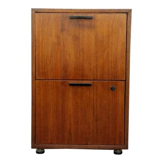Mid-Century Solid Wood File Cabinet