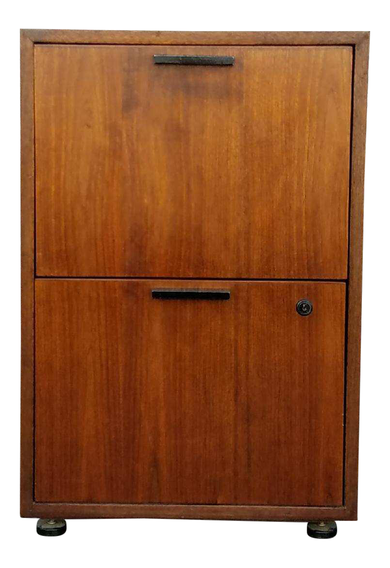 Exceptionnel Mid Century Solid Wood File Cabinet