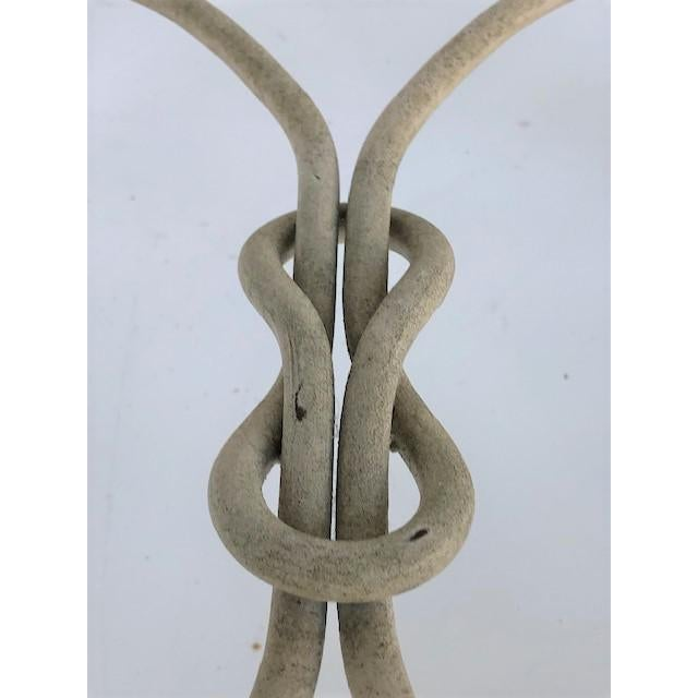 Metal Vintage Dickinson Style Knotted Metal Pedestal For Sale - Image 7 of 9