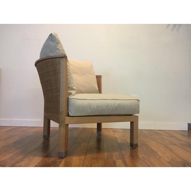 Flexform Italian Wood & Wicker Rosetta Chair For Sale In Seattle - Image 6 of 11