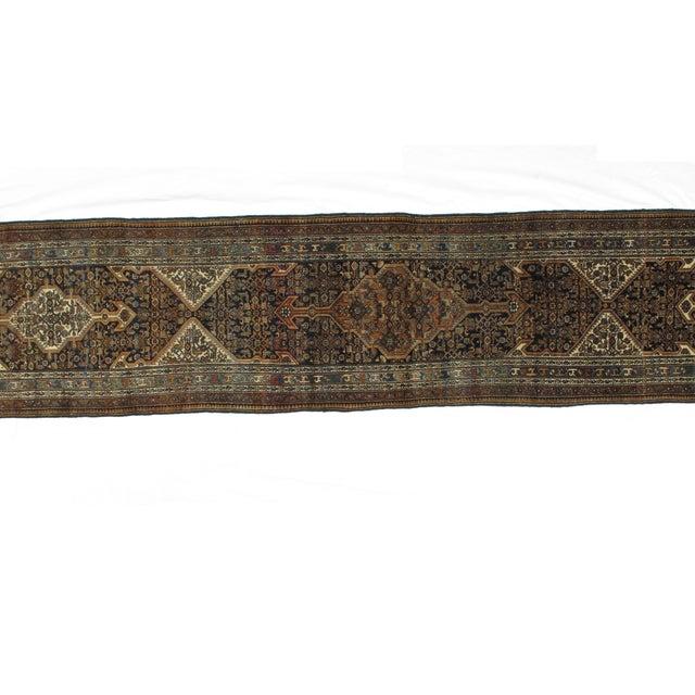 "1900 - 1909 Leon Banilivi Antique Bibikabad Rug - 3'2"" X 17'1"" For Sale - Image 5 of 8"