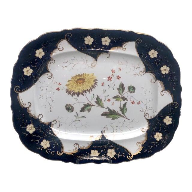 1790s Vintage Worcester Porcelain Platter For Sale