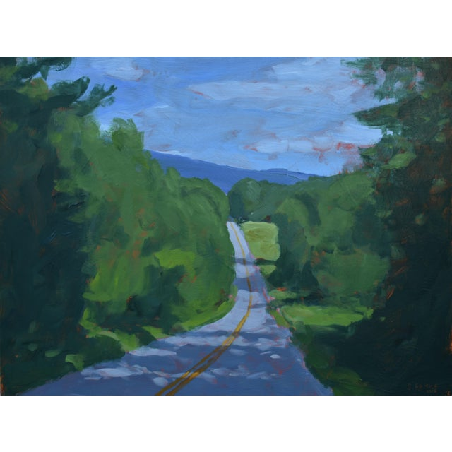 """""""Back Road in Vermont"""" Painting by Stephen Remick For Sale"""