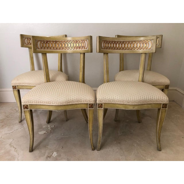 Mid Century Klismos Dining Chairs- Set of 4 For Sale - Image 13 of 13