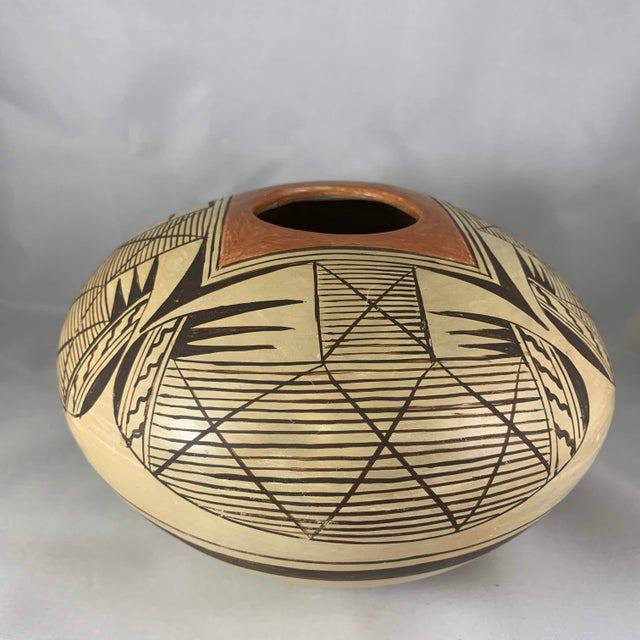 Mid 20th Century Southwest Hand Painted Migration Seed Jar by Elva Nampeyo For Sale - Image 5 of 13