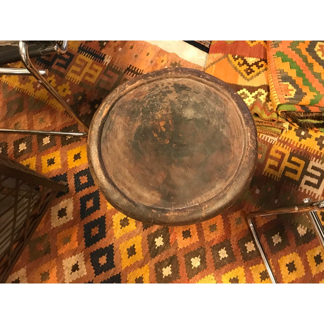 Bamileke Tribe, Carved African Wooden Stool/Table, Vintage For Sale - Image 4 of 6