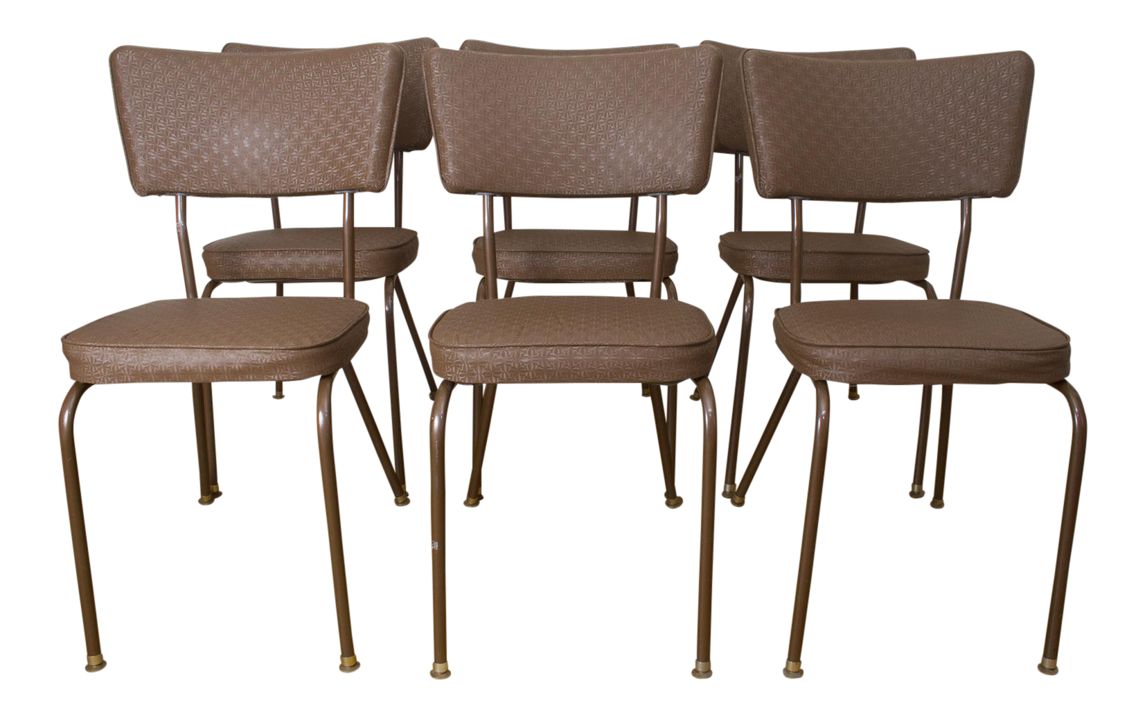 Vintage Retro Mid Century Diner Style Chrome Chairs By Falcon   Set Of 6  For Sale