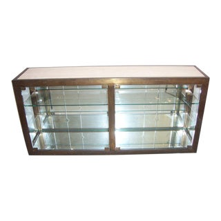 Travertine Top Vitrine For Sale
