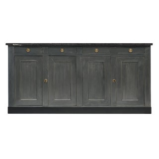 French Provincial Painted Gray Buffet For Sale