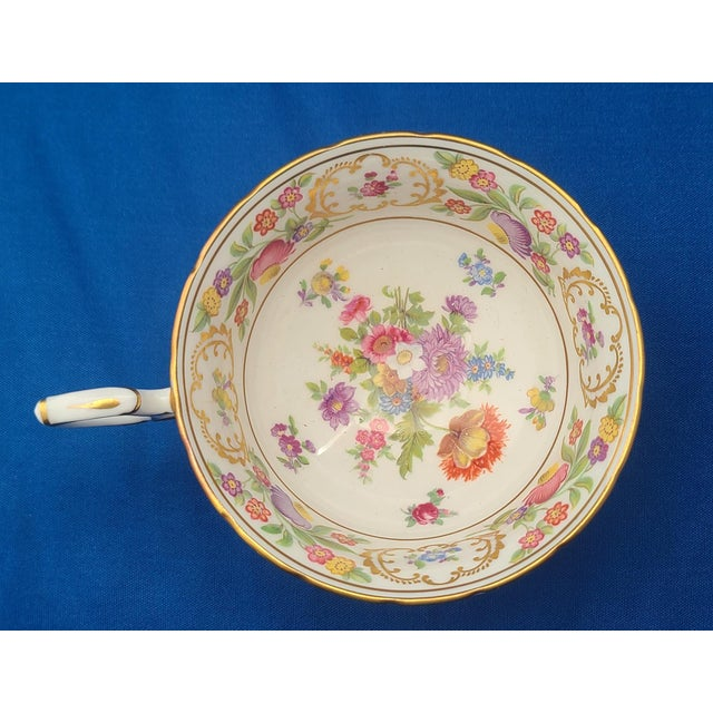Victorian Dresden Sprays English Fine Bone China Hammersley Tea ~ Coffee Cup For Sale - Image 3 of 6