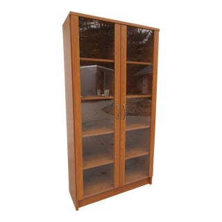 Modern Danish Glass Front Bookcase