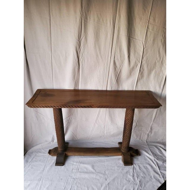 Early 20th Century Spanish Baroque Old World Console Table For Sale - Image 9 of 11