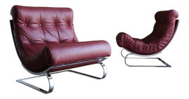 Image of Burgundy Accent Chairs