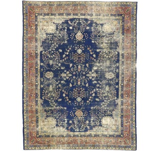 Distressed Antique Turkish Sparta Rug - 10'00 X 13'00 For Sale