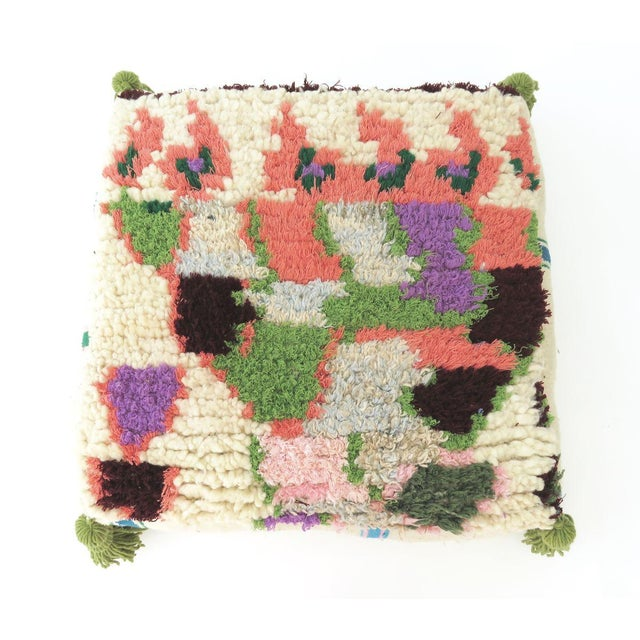 Vintage Abstract Moroccan Pouf - Image 3 of 8