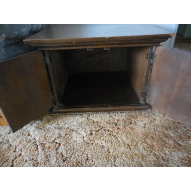 Vintage Carved Walnut End Table - Image 3 of 4
