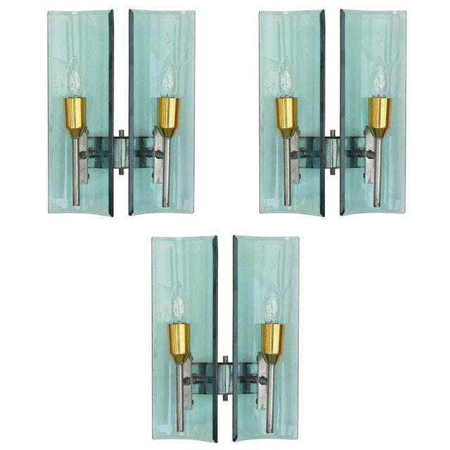 Cristal Arte Beveled Sconces (3 Available) For Sale - Image 12 of 12
