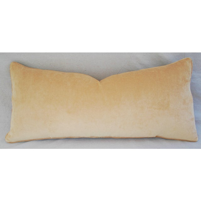 """Gold Leopard Velvet Lumbar Body Feather/Down Pillow 38"""" x 17"""" For Sale - Image 8 of 10"""