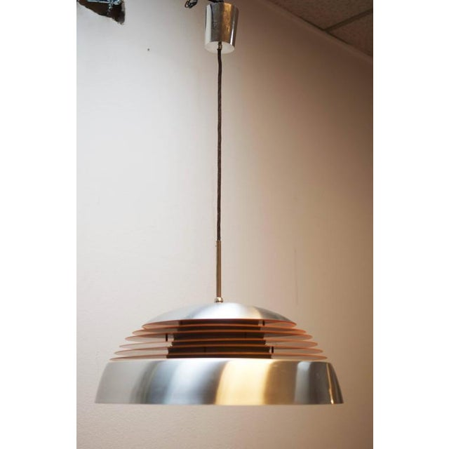 Aluminum hanging lamp, 1970s For Sale - Image 4 of 10