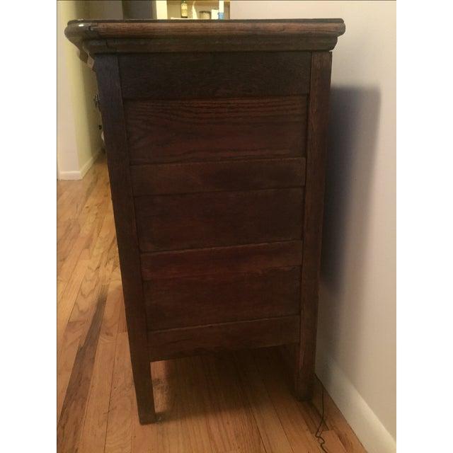 1920s Tiger Oak Dresser For Sale - Image 7 of 7