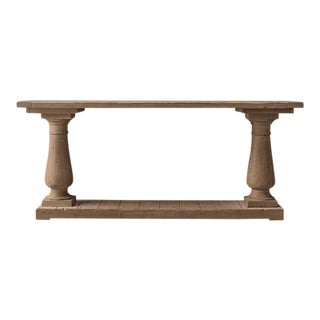 Restoration Hardware Balustrade Salvaged Console Table, Natural