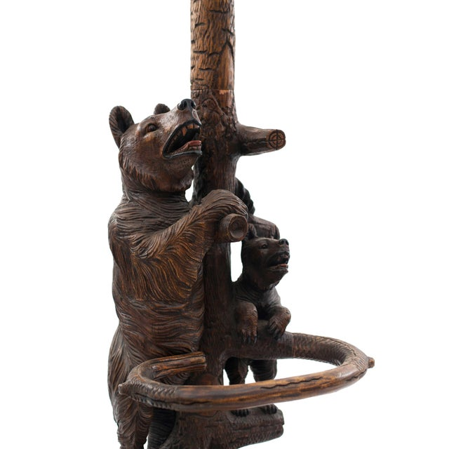 Black Rustic Black Forest Style '20th Century' Hatrack/Umbrella Stand For Sale - Image 8 of 9