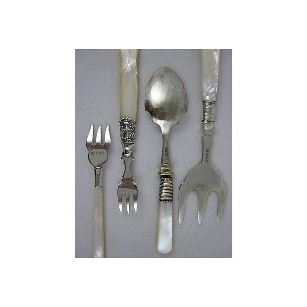 English & French Pearl Handled Servers - S/6 - Image 8 of 11