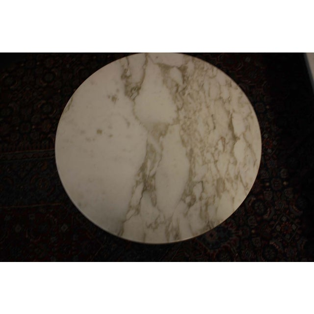 Zographos White Marble & Chromed Steel Side Table - Image 3 of 5