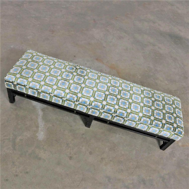 Edward Wormley for Dunbar Mid Century Modern Bench Newly Upholstered For Sale - Image 6 of 13