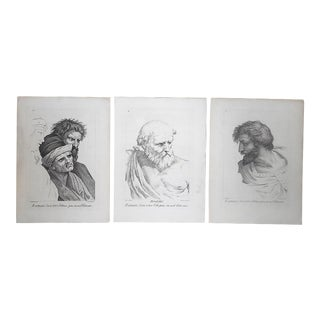 Antique Mid 1700's Copperplate Engravings-Raphael-Images for the Vatican-Set of 3-Elephant Folio For Sale