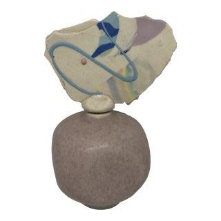 Artist Signed Studio Pottery Miniature Jar With Decorative Lid For Sale