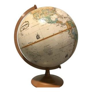 Vintage Globemaster Globe With Metal Base For Sale