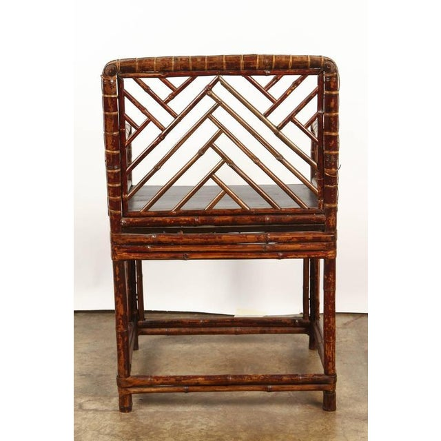 Bamboo 19th Century Chinese Bamboo Arm Chair For Sale - Image 7 of 9