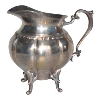 Sheridan Gadroon Silver on Copper Pitcher For Sale