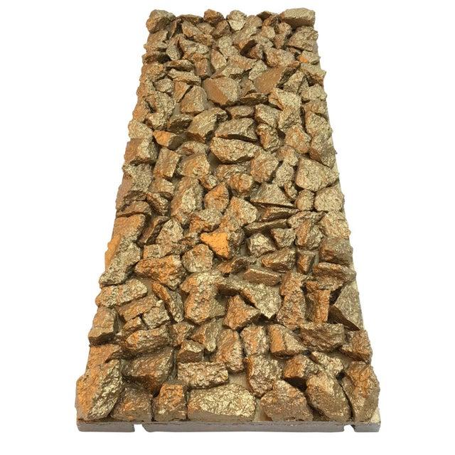 "Suga Lane ""Gilt Optimiso"" Gold Concrete Rock Brutalist Inspired Sculpture For Sale - Image 11 of 11"