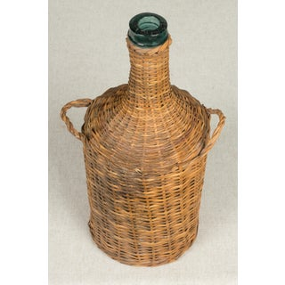 Wicker Wrapped Glass Bottles - Set of 6 Preview