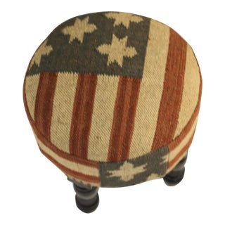 Grand Old Flag Kilim Footstool