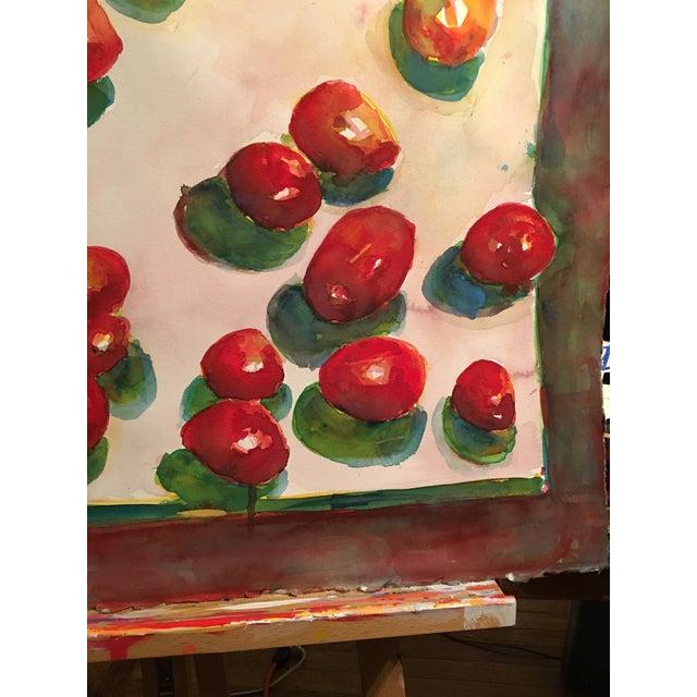 "Original ""Tomatoes"" Watercolor Painting - Image 4 of 7"