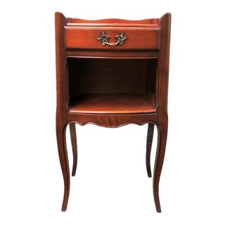 1960s French Louis XV Style Side Table Nightstand For Sale