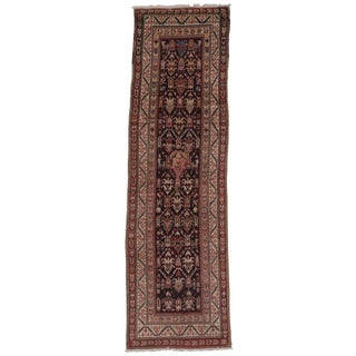 Early 20th Century Antique Persian Runner Rug - 3′5″ × 11′6″ For Sale
