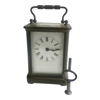19th Century Carriage Clock with Original Key For Sale