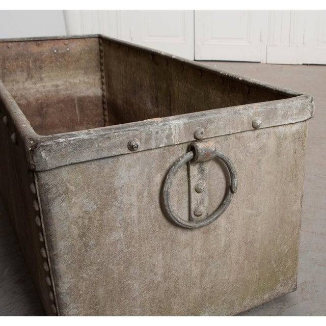 English 19th Century Zinc Trough For Sale In Baton Rouge - Image 6 of 11