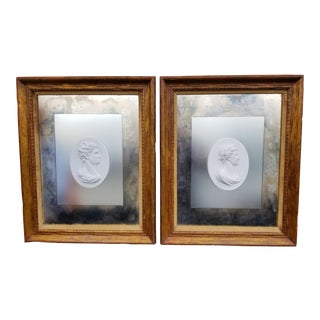 18th Century Framed 19th Century Face Plaques - A Pair