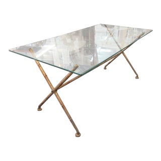 Gold Gilt Faux Bamboo Table