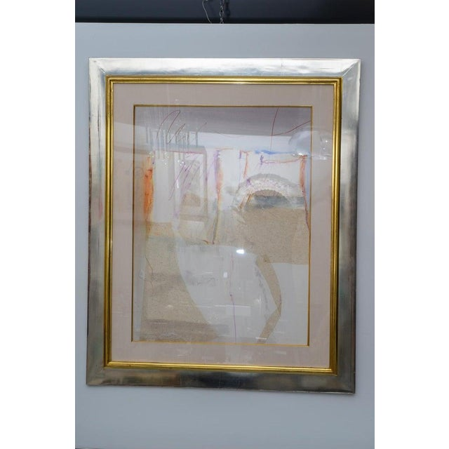 Abstract Mixed Media Painting by American Artist Harold Larsen For Sale - Image 9 of 13