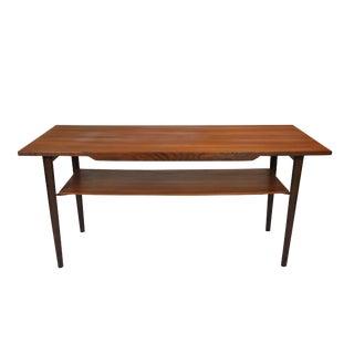 Danish Teak Coffee Table with Lower Shelf