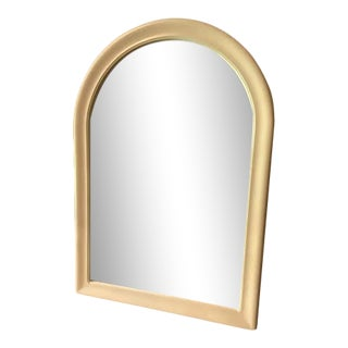 Vintage Cream Arched Mirror For Sale