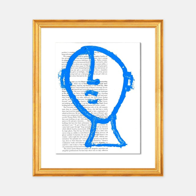 Virginia Chamlee Man on the Moon by Virginia Chamlee in Gold Frame, Small Art Print For Sale - Image 4 of 4